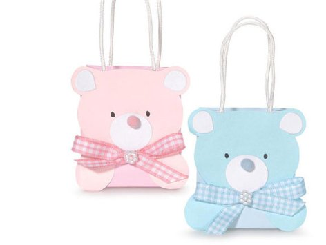 Set of Party Favor Teddy Bear Favor Bags – created and sold by whitetulipboutique on Etsy