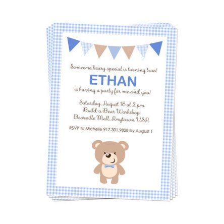 Printable Teddy Bear Party Invitation – created and sold by DaysignsbyDay on Etsy