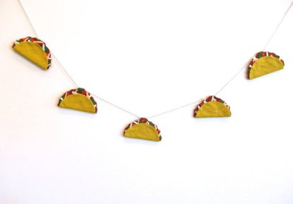 Felt Taco Party Banner – created and sold by Tastefully Mismatched on Etsy