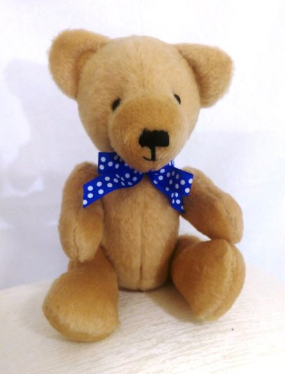 "Handmade ""Honey"" Teddy Bear – created and sold by thistllebarbears on Etsy"