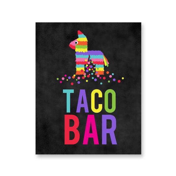 Colorful Taco Bar Printable – created and sold by SunshineInkStudio on Etsy