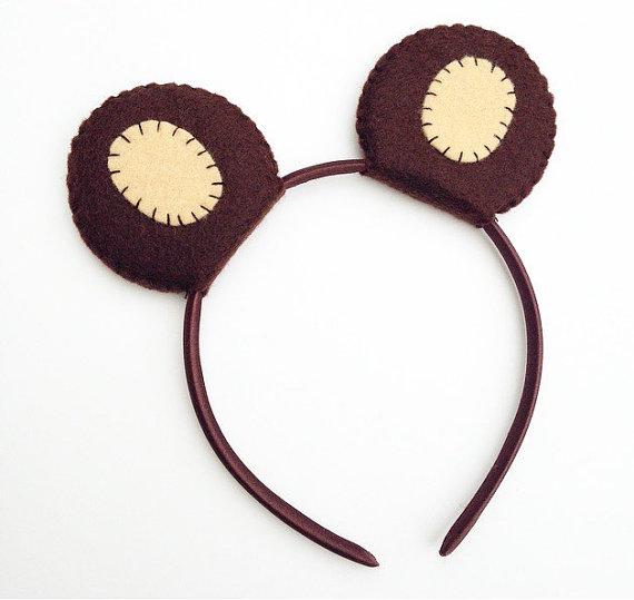 Wool Felt Bear Ears Headband – created and sold by TheThreadHouse on Etsy
