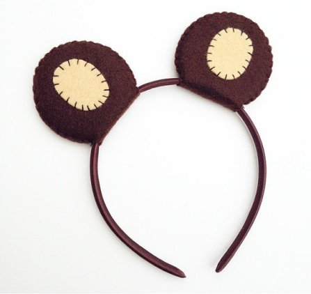 Wool Felt Bear Ears Headband – created and sold by TheThreadHouse on Etsy