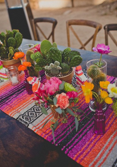 Colorful Fiesta Tablescape – shared on Be Lovely Events