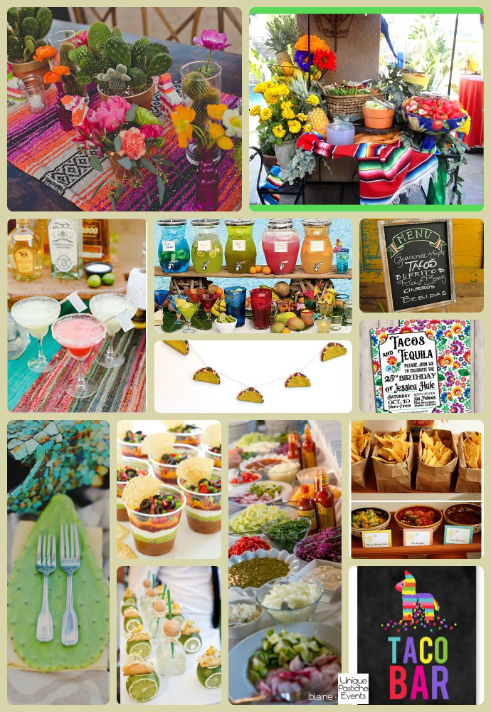 Taco and Tequila Tuesday Party Ideas by Unique Pastiche Events - learn more about this party idea board: https://uniquepasticheevents.com/2015/09/30/taco-and-tequila-tuesday-party-ideas/