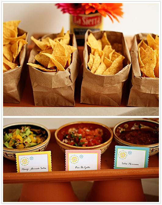 Taco Dinner Party Ideas Part - 31: Salsa Bar Station U2013 Shared On Paper And Party Love