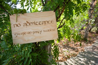 """No Admittance Except On Party Business"" Quote – shared on Storyboard Wedding"