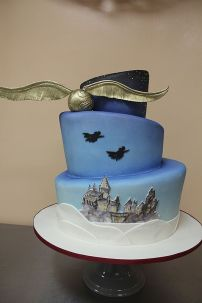 3 Tier Harry Potter Cake – shared by Oakleaf Cakes on Flickr