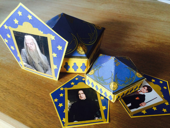 graphic relating to Harry Potter Chocolate Frog Cards Printable identified as Fold Your Personalized Harry Potter Chocolate Frog Box with Wizard