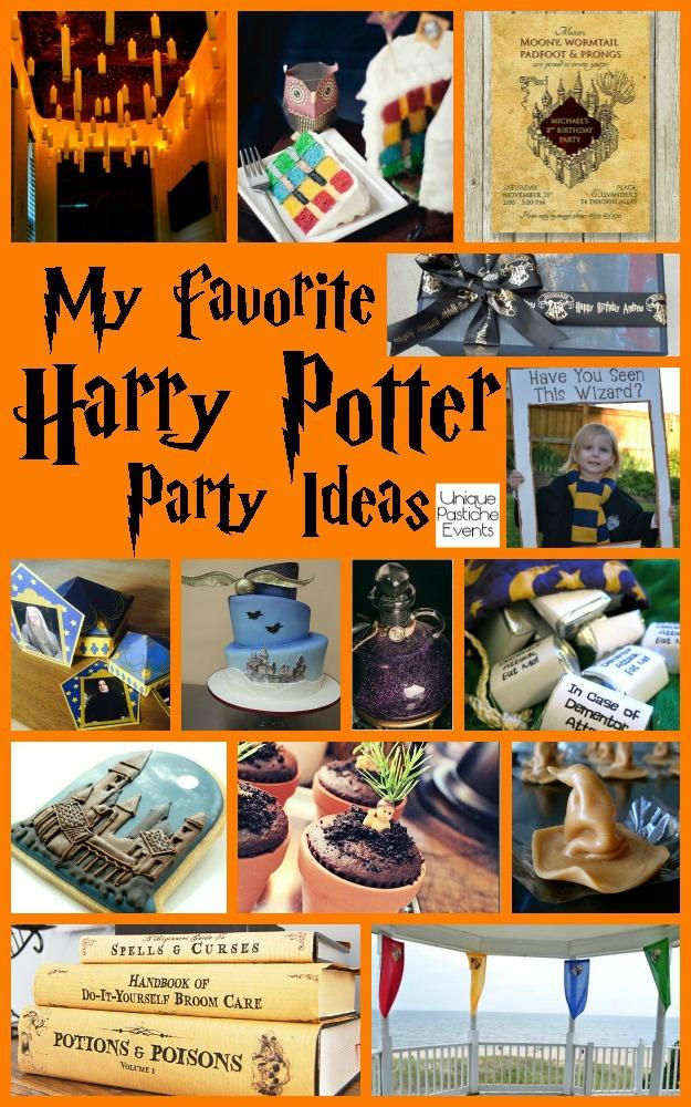 My Favorite Harry Potter Party Ideas by Unique Pastiche Events