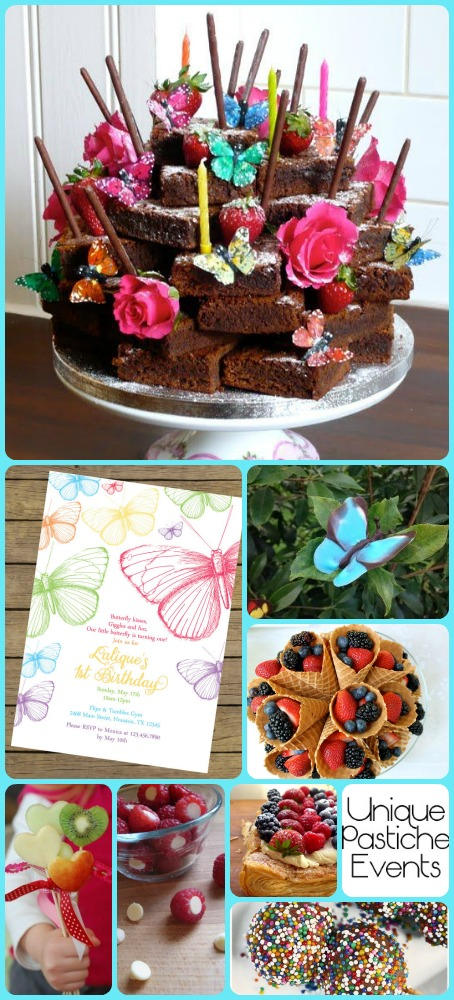 Rainbows and Butterflies….With a Side of Chocolate - Soiree Party Ideas -- By Unique Pastiche Events | Learn more about this idea board: https://uniquepasticheevents.com/2015/10/14/rainbows-and-butterflies-with-a-side-of-chocolate-soiree-party-ideas/