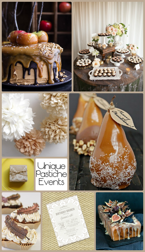 A Rustic Foodie's Dessert Party – Fall Edition {with salted caramel and lace} See the full post with all the details: https://uniquepasticheevents.com/2015/11/04/a-rustic-foodies-dessert-party-fall-edition-with-salted-caramel-and-lace/