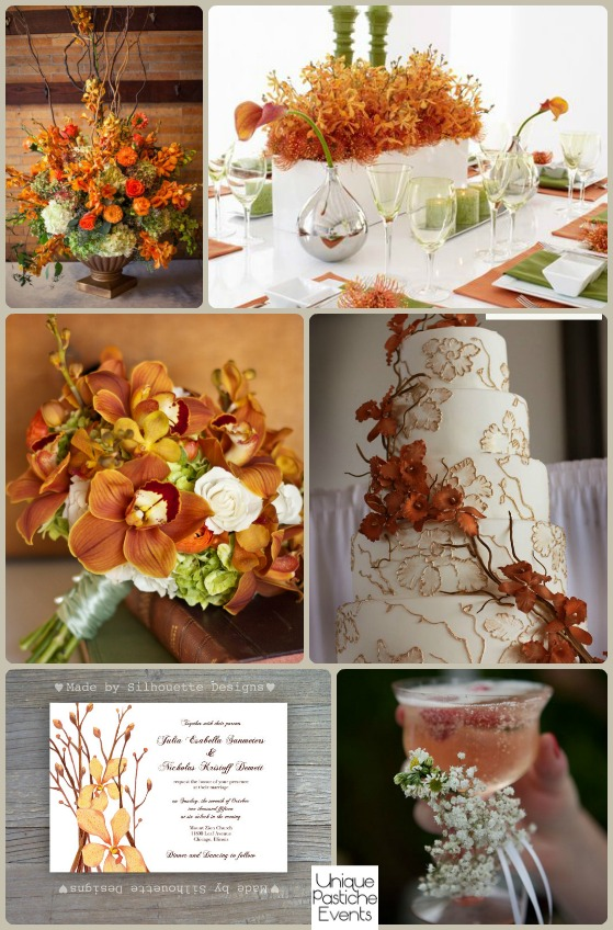 An Unexpected Autumn Wedding with Burnt Orange Orchids