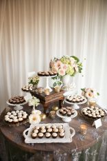 Rustic Dessert Table – shared on Style Me Pretty