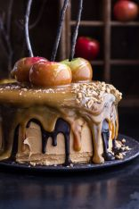 Salted Caramel Apple Snickers Cake – shared by Half Baked Harvest