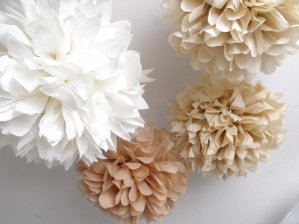Rustic Shabby Chic Pom Pom Décor – created and sold by pomtree on Etsy