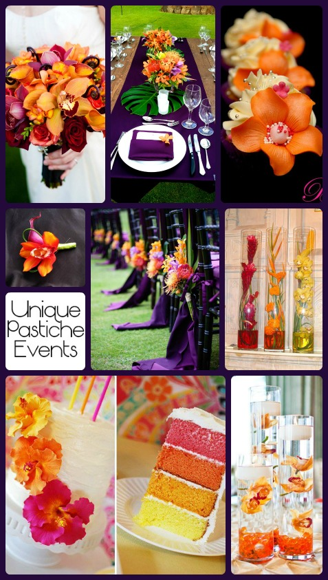 Purple and Orange Orchid Wedding Ideas