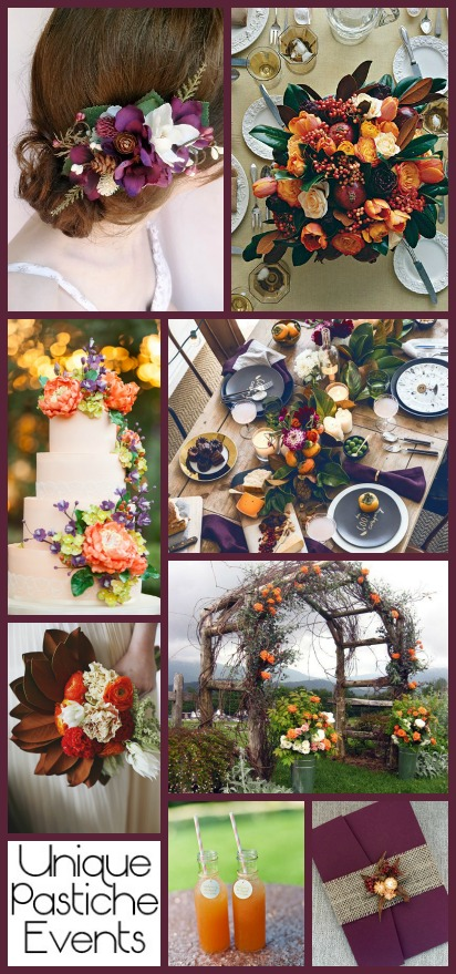 Romantic Botanical Fall Wedding Ideas See all the details: https://uniquepasticheevents.com/2015/11/11/romantic-botanical-fall-wedding-ideas/