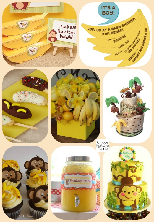 2016 year of the monkey and bananas baby shower ideas