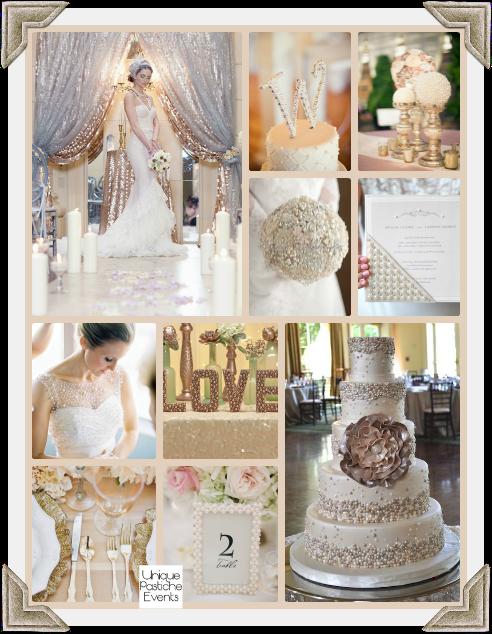 Champagne, Metallic, and Pearl Wedding Ideas