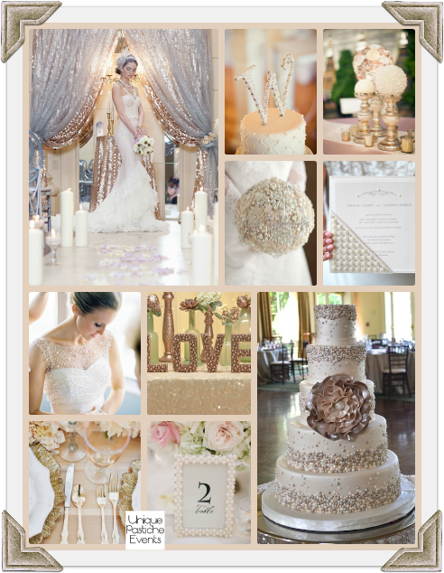 Champagne, Metallic, and Pearl Wedding Ideas