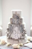 Enchanted Winter Forest Cake – shared on Colin Cowie Weddings