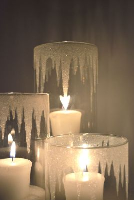 Glitter Icicle Candle Holders – shared in a roundup post on Candle Making