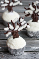 Let It Snow Cupcakes – tutorial and recipe shared on Not Your Momma's Cookie