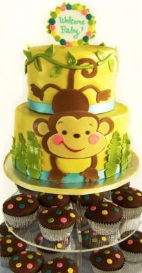 Monkey Baby Shower Cake Display – spotted on Pinterest