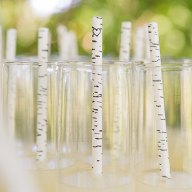 Rustic Birch Paper Party and Wedding Straws – created and sold by RocheleauDesigns on Etsy