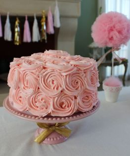 Amazing Pink Rose Cake - shared via Violeta Glace V on Catch My Party