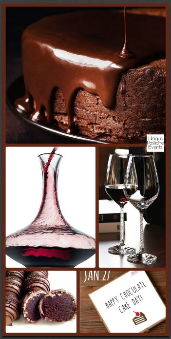 Ideas for National Chocolate Cake Day for Two….with wine Read the original post: https://uniquepasticheevents.com/2016/01/27/ideas-for-national-chocolate-cake-day-for-two-with-wine/