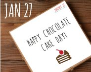 National Chocolate Cake Day Greeting Card – created and sold by NeedAHolidayCalendar on Etsy