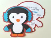 Penguin Party Invitation Set – created and sold by bellybeancards on Etsy