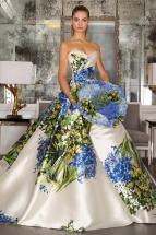 Romona Keveza's Stunning Fall 2016 Hydrangea Wedding Gown –shared on The Knot