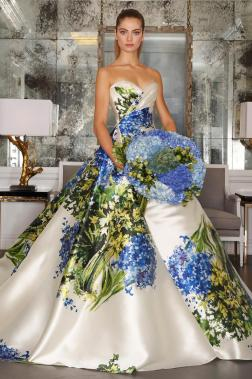 Romona Keveza's Stunning Fall 2016 Hydrangea Wedding Gown –shared on The Knot