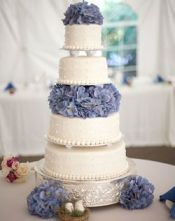 Serenity Blue Hydrangea Wedding Cake – spotted on Pinterest