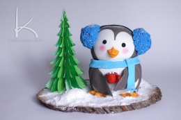Snowy Penguin Cake Tutorial – shared by Kara's Couture Cakes