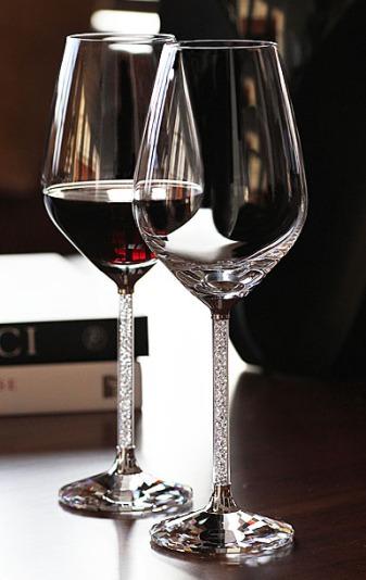 Swarovski Crystalline Red Wine Glasses – available on Swarovski