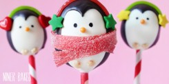 Winter Penguin Cake Pops Tutorial – shared by Niner Bakes