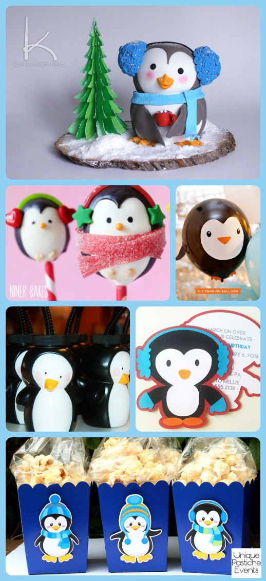 Winter Penguin Party Ideas – for Kids See the full post for all the details: https://uniquepasticheevents.com/2016/01/20/winter-penguin-party-ideas-for-kids/