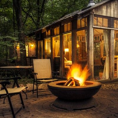 Candlewood Glass House Cabin and Fire Pit –shared by Travel Wisconsin