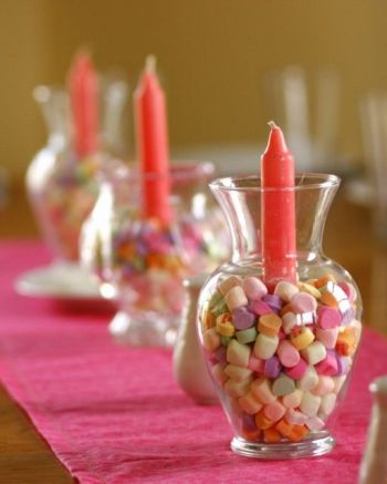 Candy Hearts Table Decor