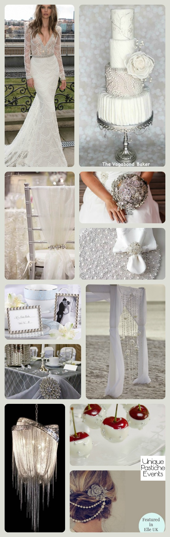 Crystals and Pearls: Seaside – Lux Wedding Inspiration
