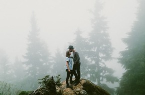 oggy Forest Engagement Photo Ideas – shared by Green Wedding Shoes