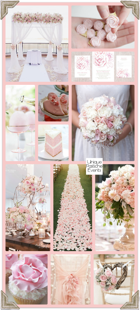 Pink Rose Quartz Spring Wedding See the full post with all the details: https://uniquepasticheevents.com/2016/02/17/pink-rose-quartz-spring-wedding/