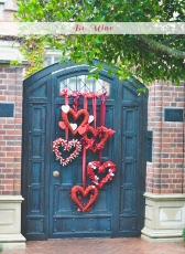 Red Hearts Valentine's Day Décor – shared on Advice from a Twenty Something