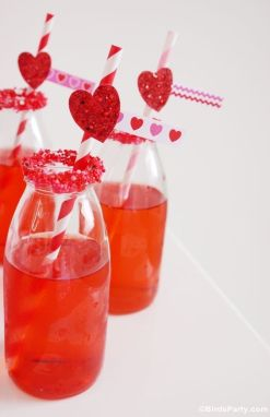 Red Sugar Rimmed Cocktails – shared on Bird's Party