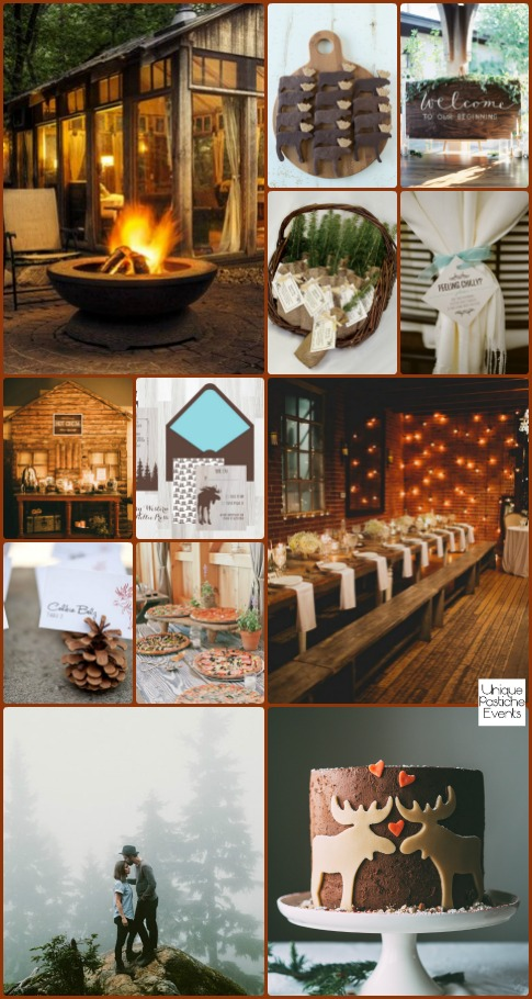 Relaxed Cabin Engagement Party {with a Moose?} See the full post with all the details here: https://uniquepasticheevents.com/2016/02/24/relaxed-cabin-engagement-party-with-a-moose/