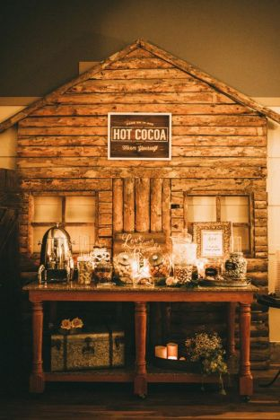 Rustic Cabin Hot Cocoa Bar – shared by Witney Carson